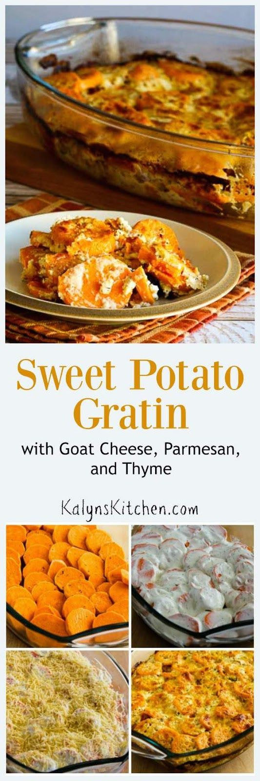 loves this Sweet Potato Gratin with Goat Cheese, Parmesan, and Thyme ...