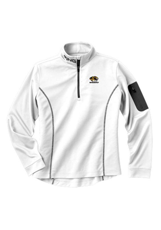 Missouri Tigers PING Womens White Ranger 1/4 Zip Jacket http://www.rallyhouse.com/shop/missouri-tigers-ping-missouri-tigers-ping-womens-white-ranger-14-zip-jacket-9970006?utm_source=pinterest&utm_medium=social&utm_campaign=Pinterest-MizzouTigers $69.99