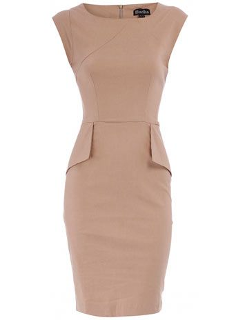 Nude sheath dress