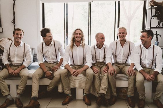 Groomsmen from a Coachella Inspired Seaside Wedding on Kara's Party Ideas | KarasPartyIdeas.com (21)