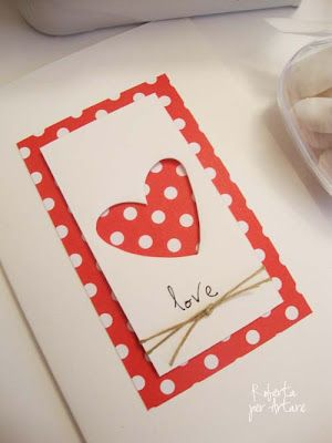 Rosso a Pois - SO easy with punched heart & twine