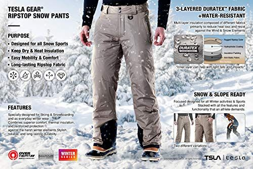 Waterproof Insulated Snowboard Overalls TSLA Kids /& Boys and Girls Winter Snow Bibs Windproof Ripstop Ski Pants