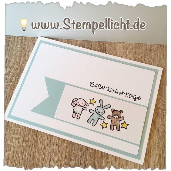 Stempellicht: Babykarten mit Moon Baby von Stampin' Up!