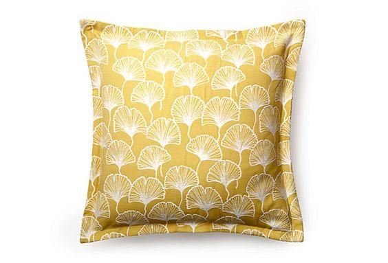 Ginko Canary 22x22 Pillow, Yellow on OneKingsLane.com: