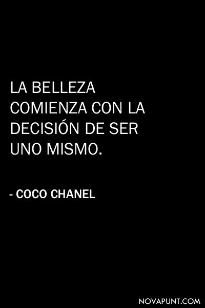 Citas Coco Chanel Moda Fashion