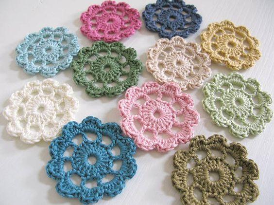 Crochet: Crochet Flowers, Flowers Crochet, Cutie Flowers, Fabric Flowers, Crocheted Flowers, Crochet Flower Patterns, Flowers Pincushions Etc, Flowers Mixed