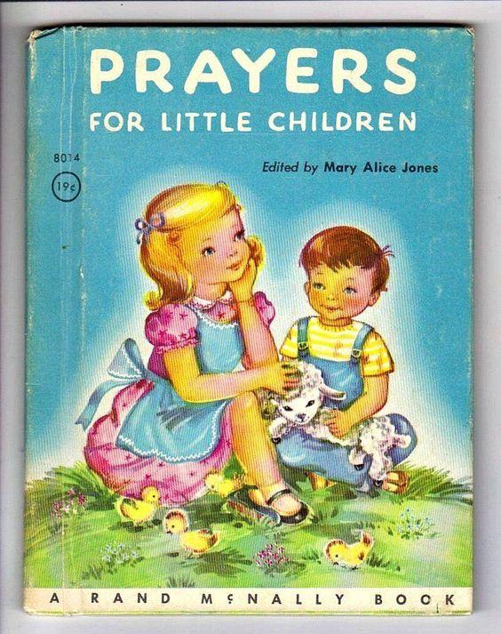 Prayers for Little Children Vintage 1950's Rand McNally Junior Elf Book 2582 | eBay