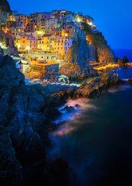 The tiny village of Manarola on the Cinque Terre coast of Italy, between Genoa and Pisa.