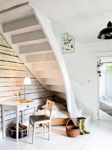 escalier avec bureau