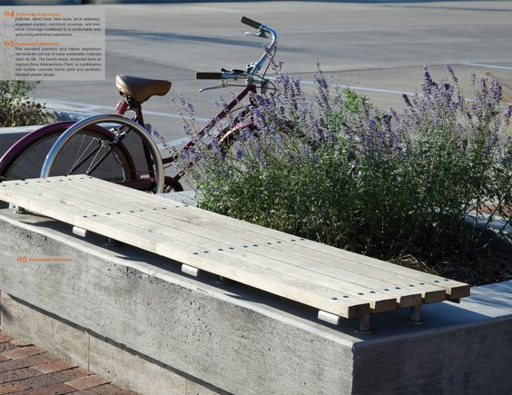 Landscape Bench Planter   Google Search | Memorial Project | Pinterest |  Planters, Street Furniture And Urban Design