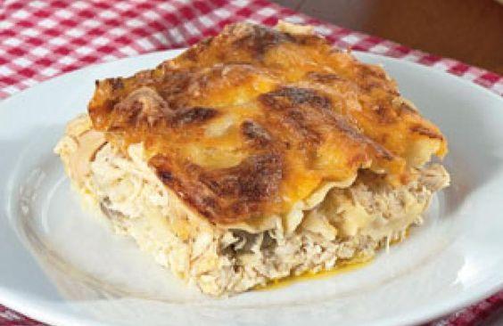 Lasagna De Pollo En Salsa Blanca Food Recipes Good Food