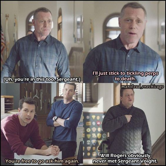 You don't wanna ask Voight something twice