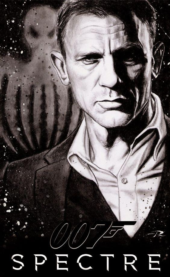 Daniel Craig as James bond 007 in SPECTRE teaser .  Art by Pat Art #jamesbond #spectre #007: