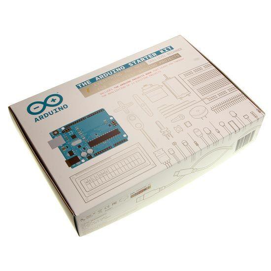 Arduino Starter Kit    Il kit contiene un Arduino UNO, un libro con i progetti, cavi, sensori e tutti i componenti necessari per realizzare non solo i 15 progetti presenti nel libro, ma per creare tante nuove invenzioni.