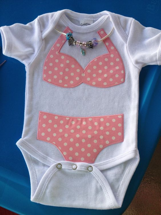 baby girls size 03 months bikini onesie with by LaLaLandGirlystuff, $18.50