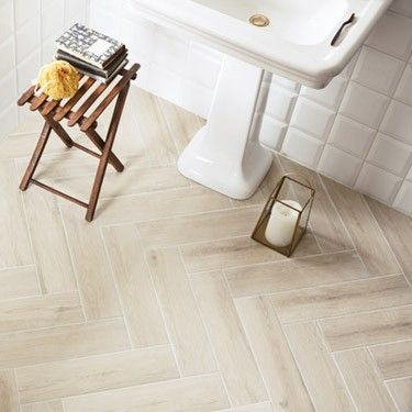 St Ives by Fired Earth. Wood-like tiles for the bathroom. Option 2