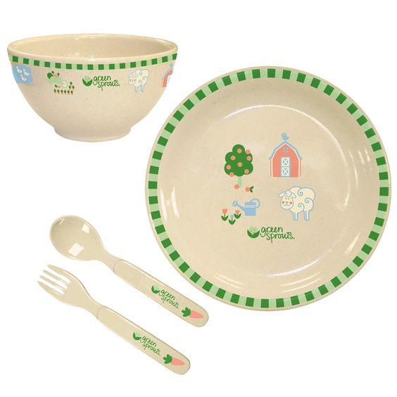 Amazon.com: Green Sprouts Plant Fiber Dinner Ware Set: Baby