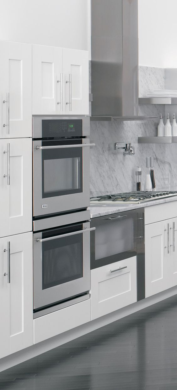 How to design grey and cabinets on pinterest - Sleek kitchen world ...
