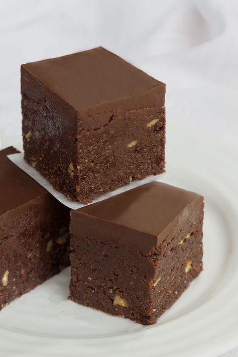 raw food brownie recept