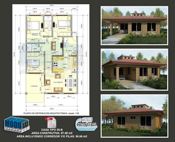 Plano de casa casas pinterest for Planos casas sims