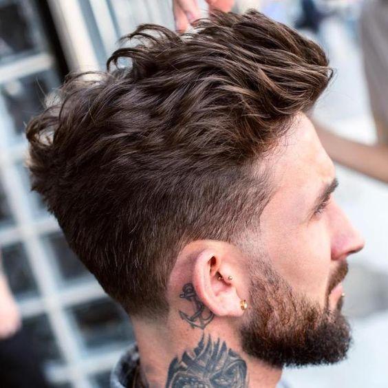 disheveled quiff hairstyle