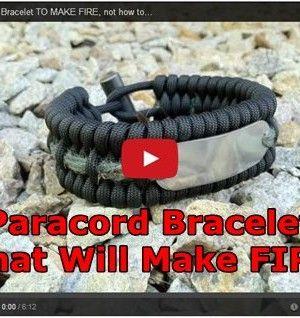Paracord bracelet to make fire