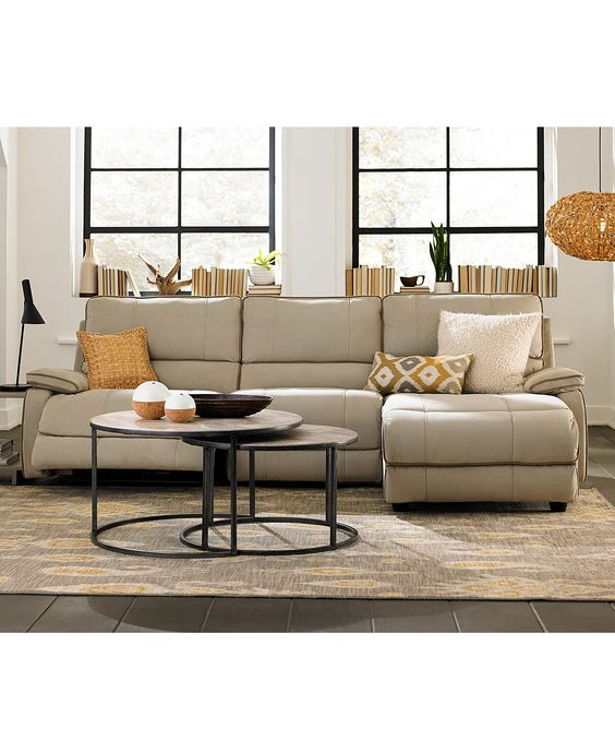 Www Macyfurniture: Cody Fabric Power Reclining Sectional Sofa Living Room