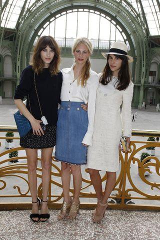 Alexa Chung, Poppy Delevingne et Caroline Sieber   Vogue