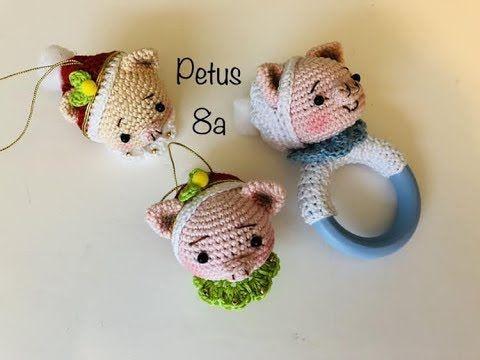 Como tejer cabeza, orejas y pelo elfa amigurumis by Petus 5a parte ... | 360x480