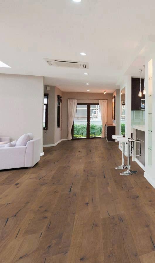 Lindura-Holzboden in Eiche rustikal olivgrau 8511 passt perfekt in - küche landhausstil gebraucht