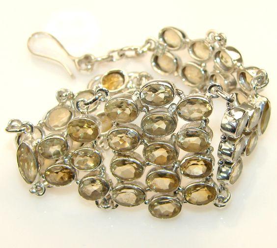 Beautiful Like a Sun Citrine Sterling Silver Bracelet | 19% OFF