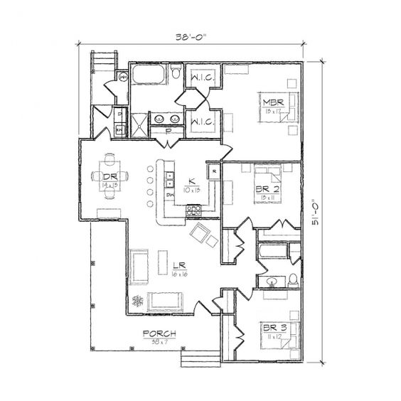 Folk victorian hip roof and floor plans on pinterest Single gable roof house plans