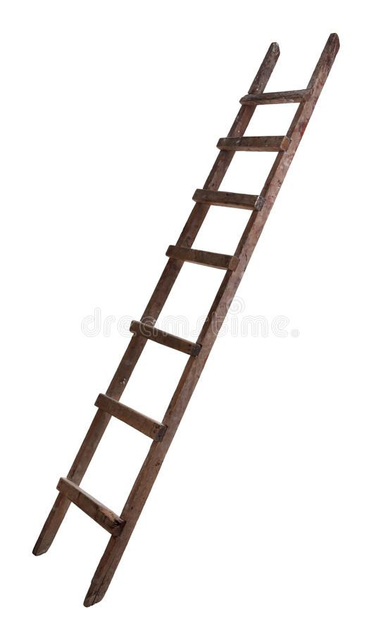 Old Wooden Ladder On The White Background Ad Ladder Wooden Background White Ad Old Wooden Ladders Wooden Ladder Wooden