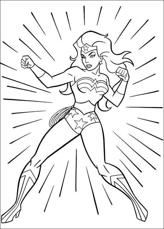 dibujos para colorear wonder woman mujer maravilla 17