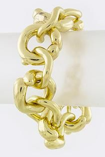 Cinnaryn Round Chain Linked Joy Bracelent in Gold $19