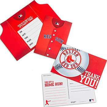 Boston Red Sox® Invitation and Thank You Note Combo