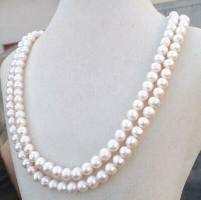 """Wholesale 10 Strands 7-8MM White Akoya Cultured Pearl Necklace 18/"""""""