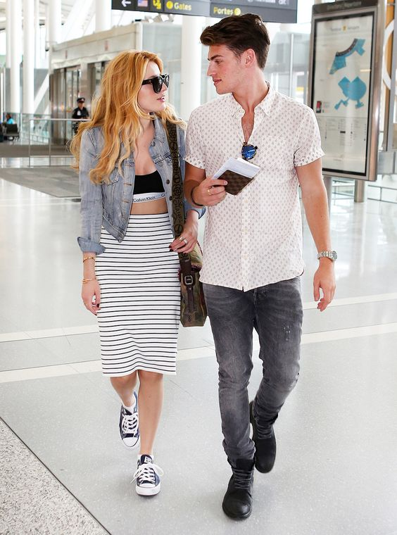 Bella Thorne and Gregg Sulkin providing airport/couple/outfit goals. We\u0027re