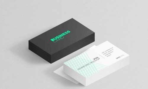 Download Download Isometric Business Card Mockup G4ds Business Card Mock Up Cosmetics Mockup Isometric