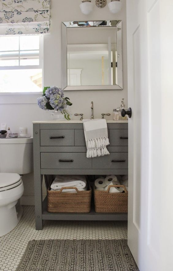 Open Storage Under Bathroom Sink