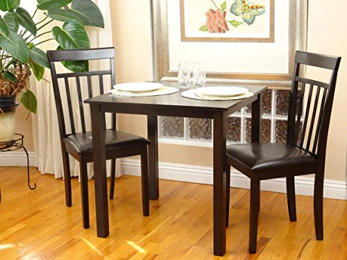 3 Pc Dining Room Dinette Kitchen Set Square Table And 2 Warm