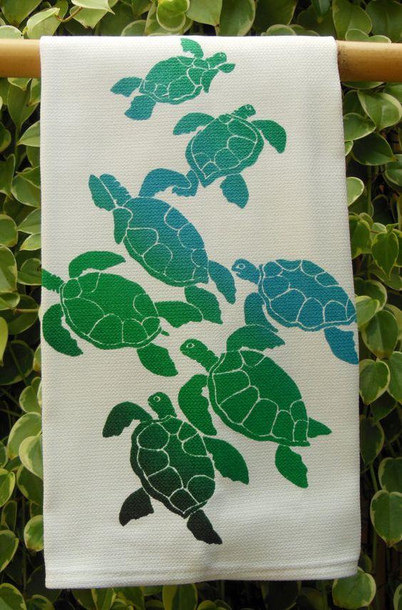 Ohana Sea Turtles And Kitchen Towels On Pinterest