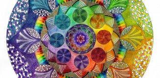 vorlagen mandala bedeutung hobby stressbefreiung bunt farben ombre