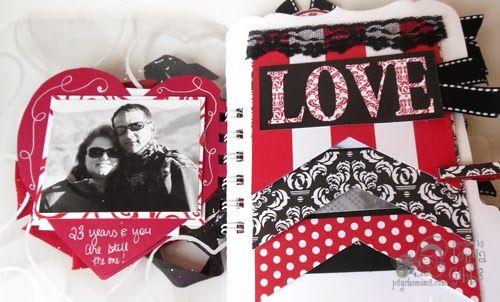 Valentine Mini Album - Psycho Moms Scrapbooks: How I Love You - Mini Album by Tonya Gibbs #canvascorp