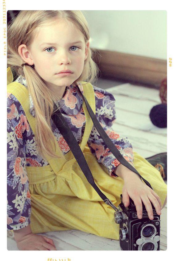 The Floral Market Peter Pan Collar Girls Blouse by Fleur and Dot SpringSummer14 #fleuranddot #kids #fashion: