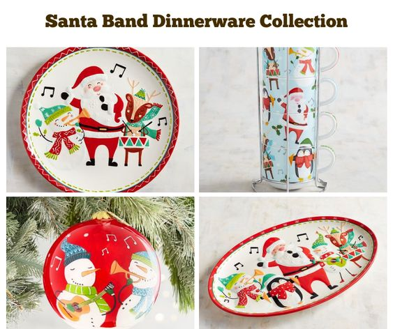 Santa Band Dinnerware Collection