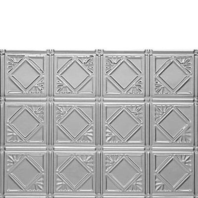 0603 DIAMONDBACK SQUARES BACKSPLASH - Mill Finish Aluminum by Decorative Ceiling Tiles Inc.. $6.50. Our Mill Finish Aluminum is the most popular finish because of its affordable pricing, light wight and the fact that the tiles will not rust. Although they will not rust, they will oxidize and they have to be primed and painted from the face side. These tiles are about half as heavy as our Tin Plated Steel Tiles and are also easier to work with as Aluminum is a softer meta...