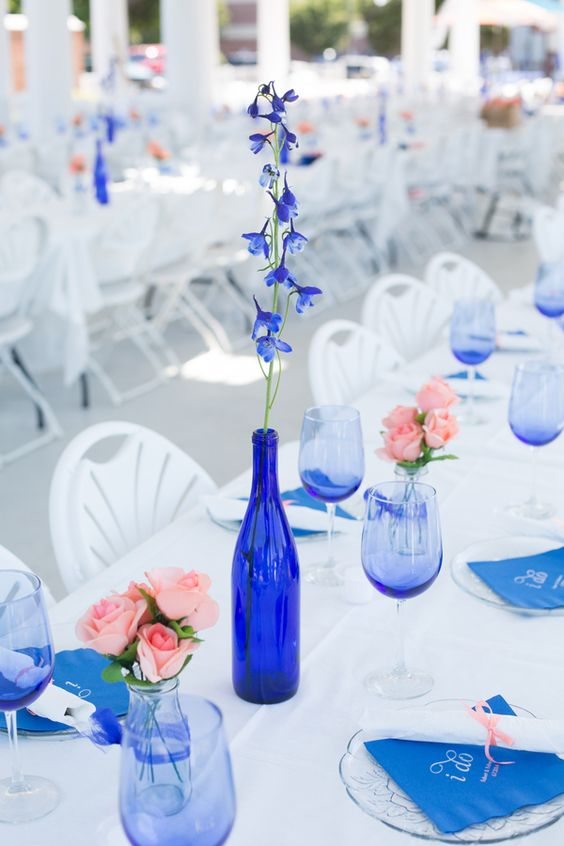 {Cobalt Blue and Coral} Virginia Wedding|Photographer:  Chelsea Anderson Photography
