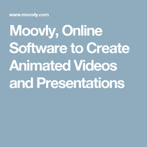 Moovly, Online Software to Create Animated Videos and Presentations