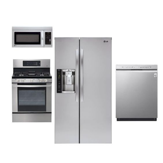 attractive 4 Piece Kitchen Appliance Package Stainless Steel #10: LG Stainless Steel 4 Piece Kitchen Appliance Package